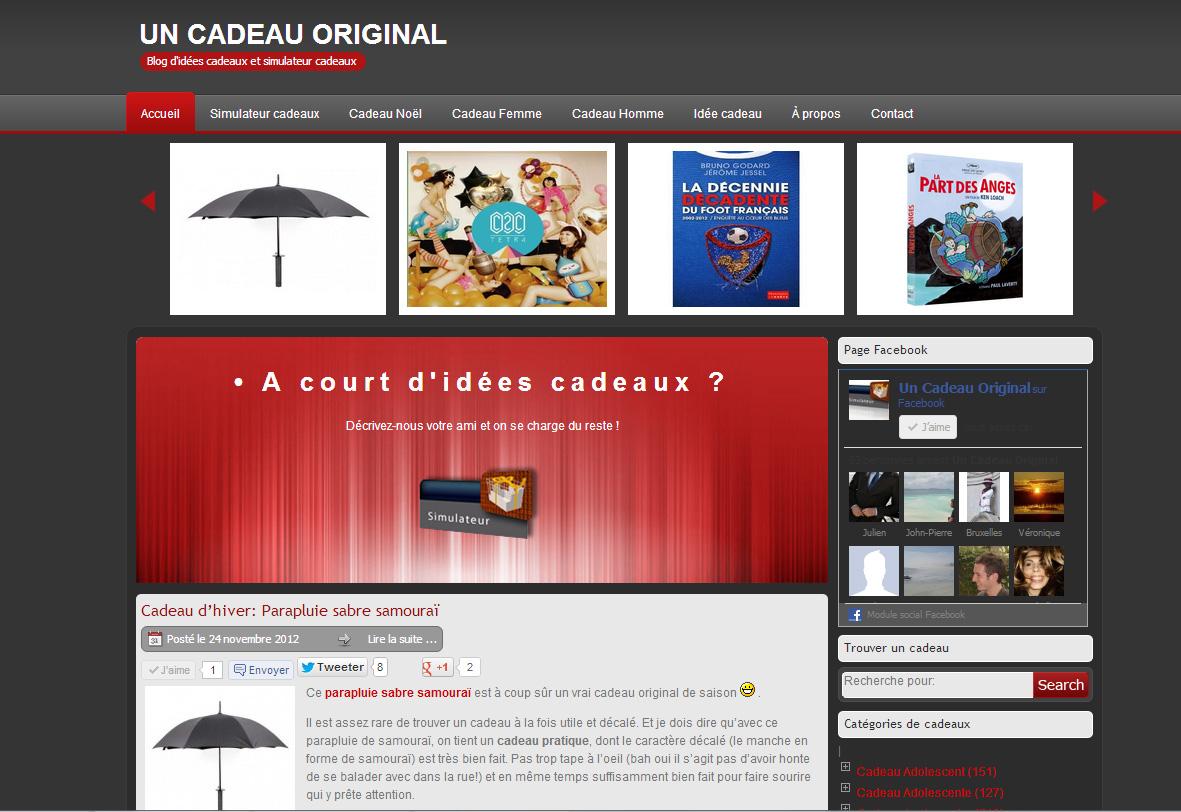 Un blog d id es cadeaux originales d couvrir le for Idee site web original